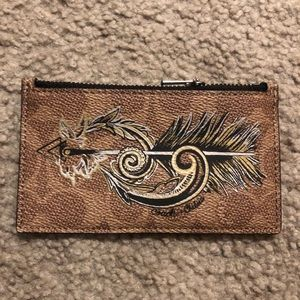 Coach Tattoo Zip Card Case NWOT